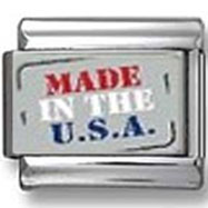Made in the U.S.A. Photo Charm