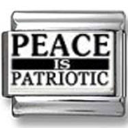 Peace is Patriotic Photo Charm
