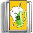 Green Mug of Beer Photo Charm