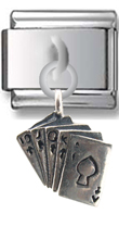 Cards Sterling Silver Italian Charm