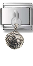 Sea Shell Sterling Silver Italian Charm