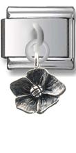 Flower Sterling Silver Italian Charm