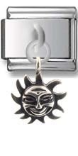 Sun Sterling Silver Italian Charm