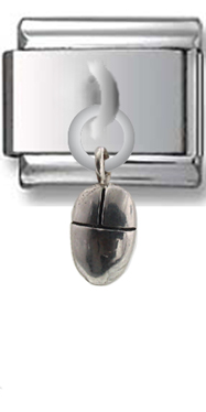Computers Mouse Sterling Silver Italian Charm