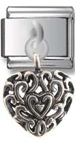 Heart Sterling Silver Italian Charm