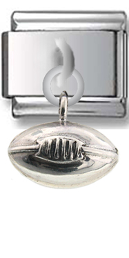 Football Sterling Silver Italian Charm