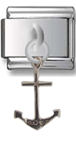 Anchor Sterling Silver Italian Charm