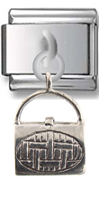 Lady Bag Sterling Silver Italian Charm