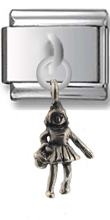 Girl Sterling Silver Italian Charm