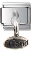 Friend- Joy Sterling Silver Italian Charm