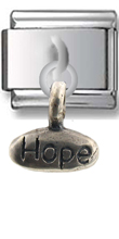 Love- Hope Sterling Silver Italian Charm