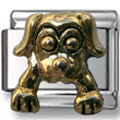 Golden Puppy Italian Charm