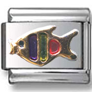 Colorful Fish Italian Charm