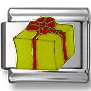 Yellow Gift box Italian Charm