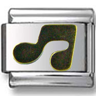 Gold Music Note Italian Charm