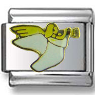 Flying Angel with Flute Italian Charm