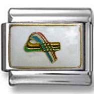 Breast Cancer Ribbon Italian Charm