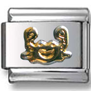 Gold Cancer Italian Charm