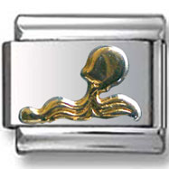 Gold Aquarius Italian Charm