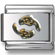Gold Pisces Italian Charm