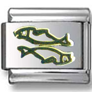 Pisces Two fish Italian Charm