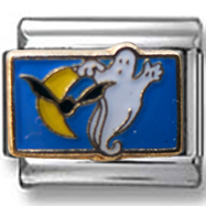Ghost and Bats Italian Charm