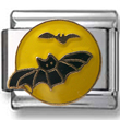 Bats on Moon Italian Charm