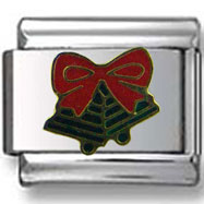 Jingle Bells with Ribbon Italian Charm