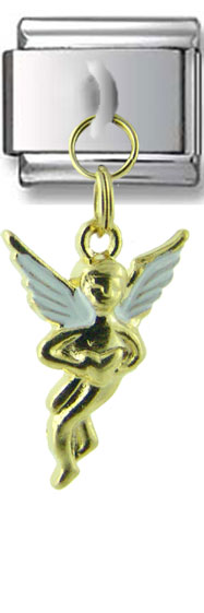 Dangle Gold Angel Italian Charm