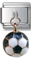 Dangle Soccer Ball Italian Charm