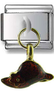 Dangle Amber Hat Italian Charm