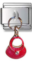 Dangle Red Bag Italian Charm
