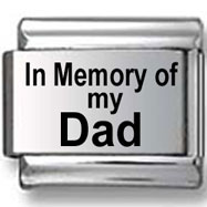 In memory of my Dad Italian Charm