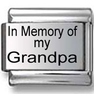 In Memory of my Grandpa Italian Charm