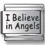 I Believe in Angels Italian Charm