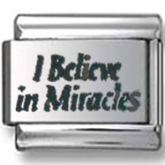 I Believe in Miracles Italian Charm