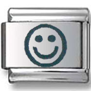 Smiley Face Laser Italian Charm