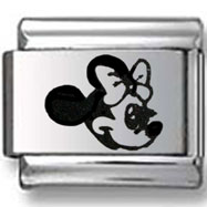 Minnie Mouse Laser Italian Charm