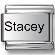 Stacey Laser Italian Charm