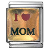 Heart Mom Italian Charm 13mm