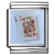 King of Hearts Italian Photo Charm 13mm