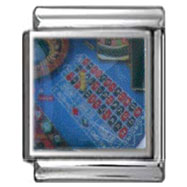 Roulette Table Italian Photo Charm 13mm