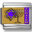Judaism Symbols Photo Charm