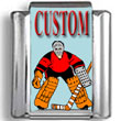 Hockey Goalie Custom Photo Charm