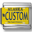Alaska License Plate Custom Charm