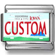 Iowa License Plate Custom Charm