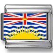 British Columbia, Canada Flag Photo Charm