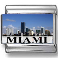Miami Skyline Landmark Photo Charm