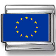European Union Flag Photo Charm