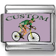 Custom Bike Messenger Photo Charm
